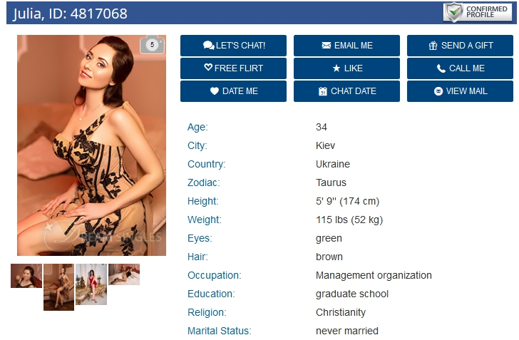 DreamMarriage Girl Profile, DreamMarriage com Review, Dating Slavic Women